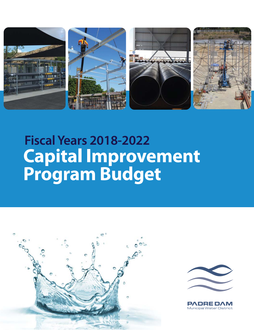 Capital Improvement Program Budget for Fiscal Years 2018-2022