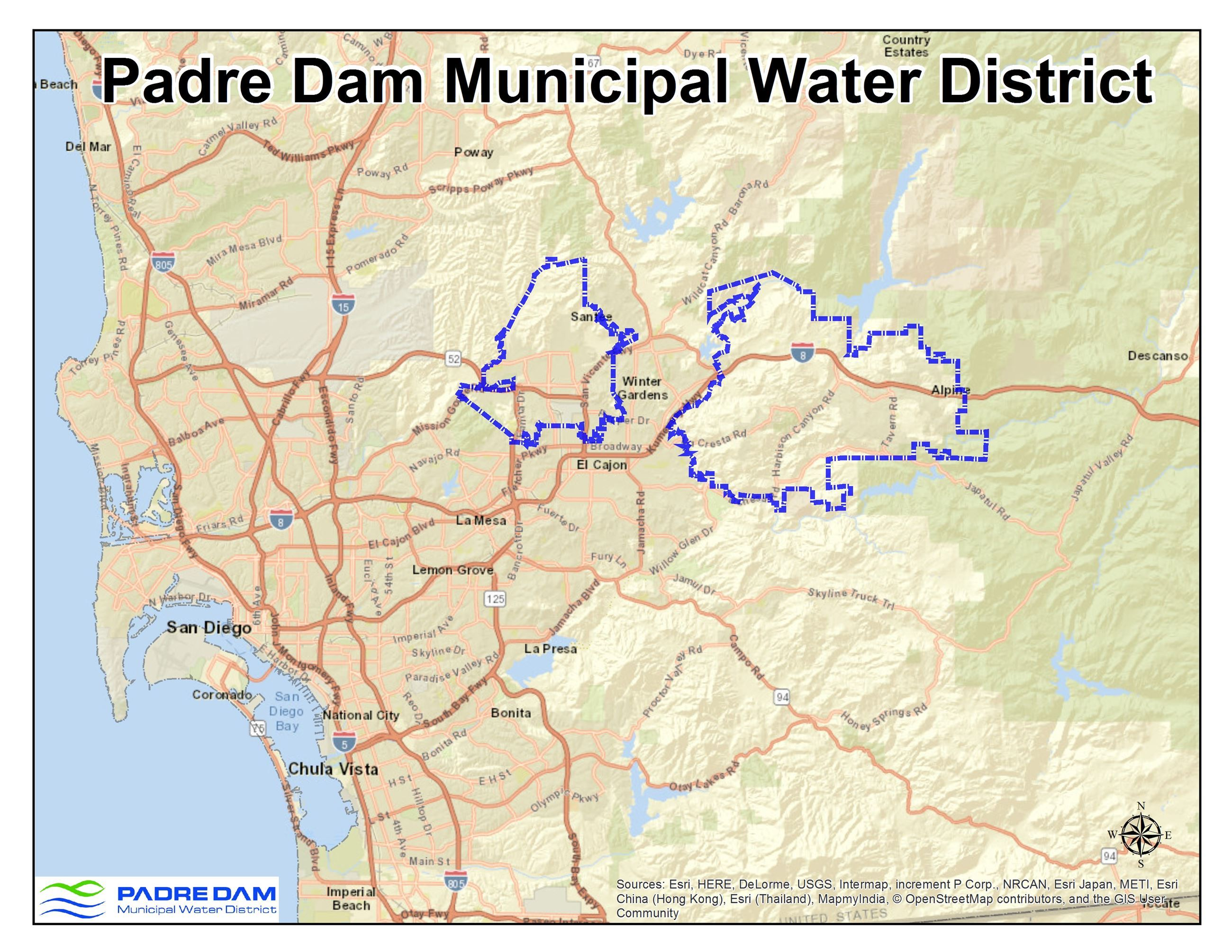 Padre Dam Water District Map