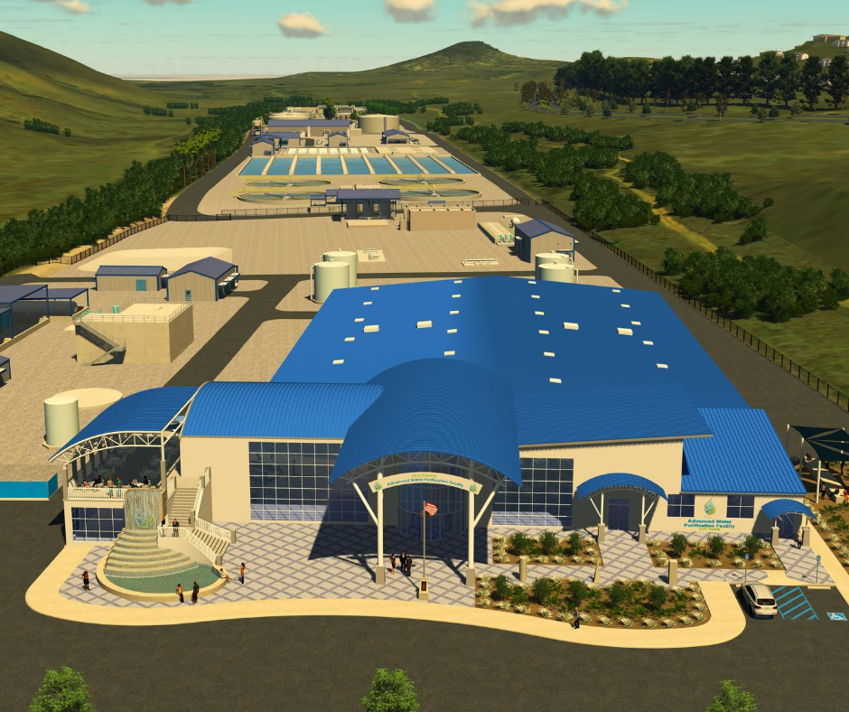 Rendering of Advanced Water Purification Facility