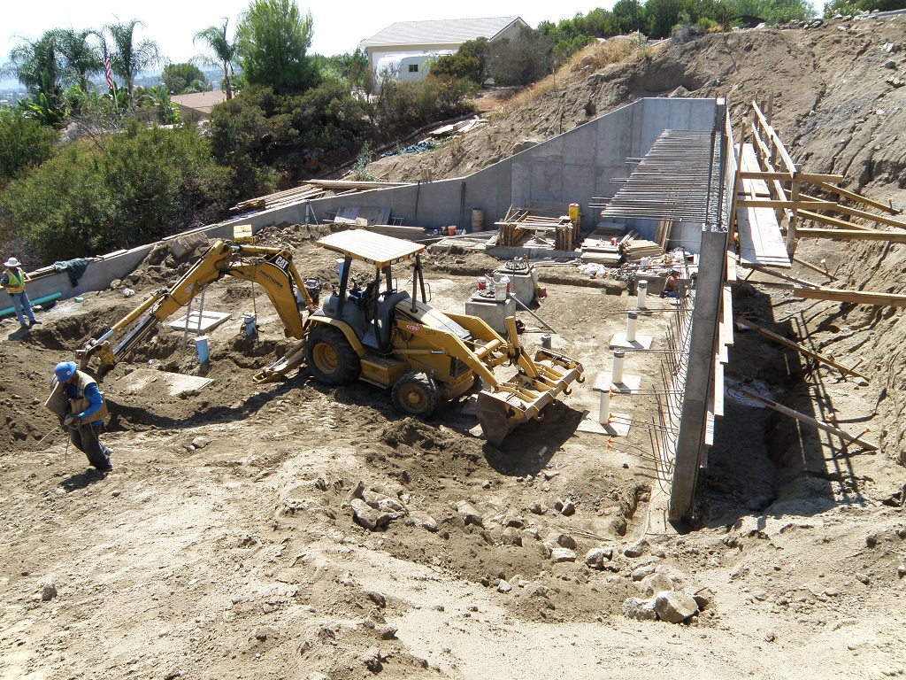 Construction at Pump Station 9